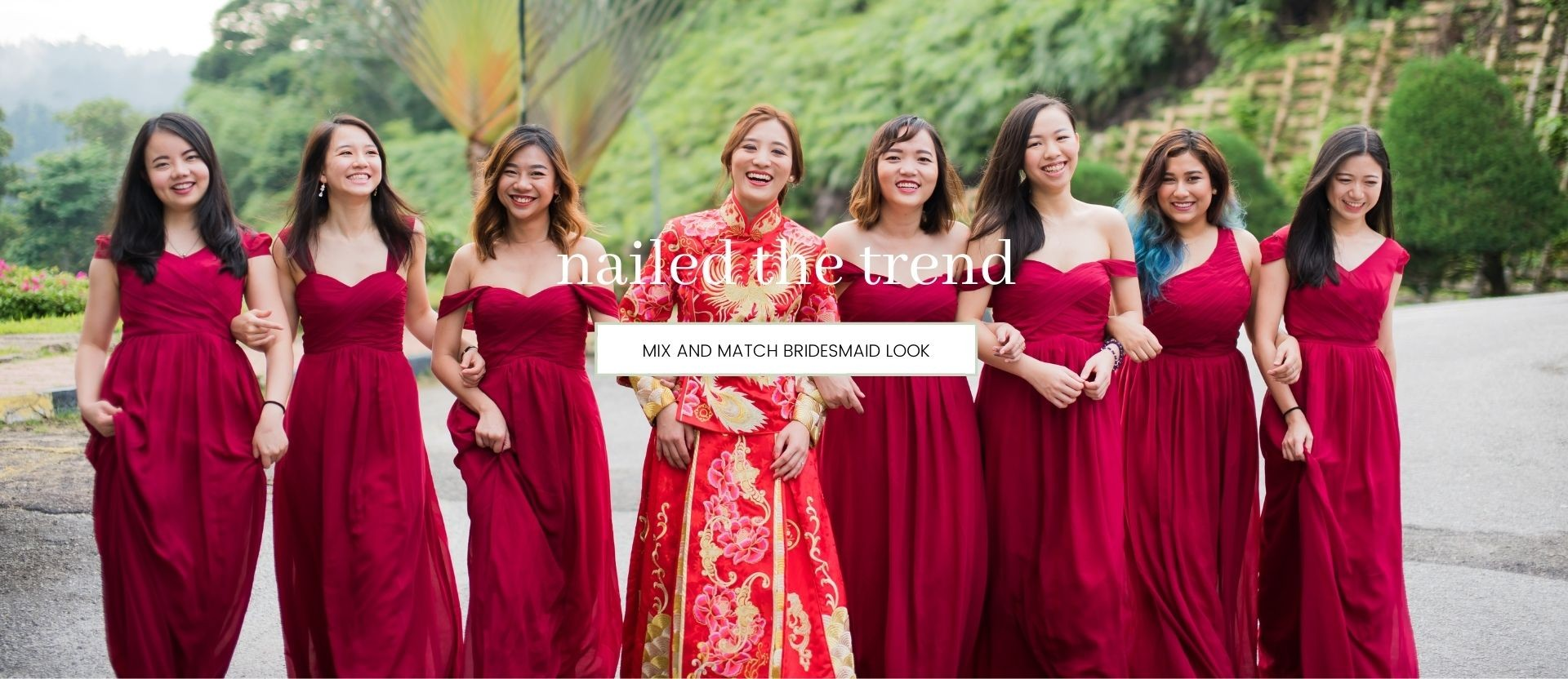 MIX AND MATCH BRIDESMAID STYLES: NAIL THE TREND
