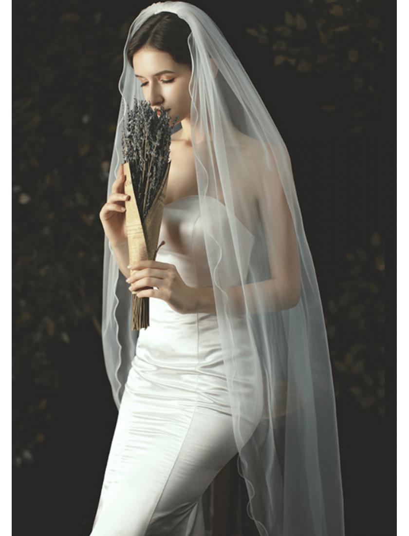 Victoria Veil | Cascade Soft Veil Waltz Length 2 Meters Ivory Wedding Veil