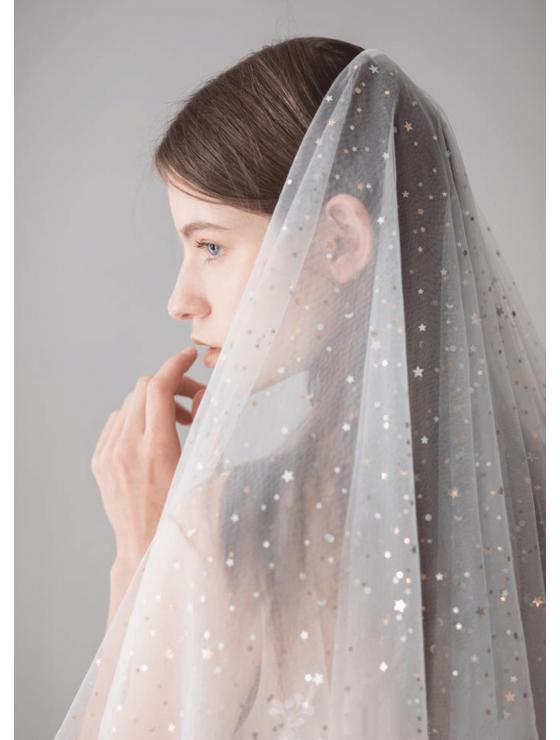 Vienna Veil   Twinkle Stars & Moon Celestial Veil Fingertip 1.5 Meters Wedding Veil