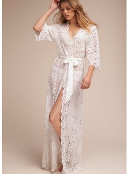Giovanna Boho Lace Robe