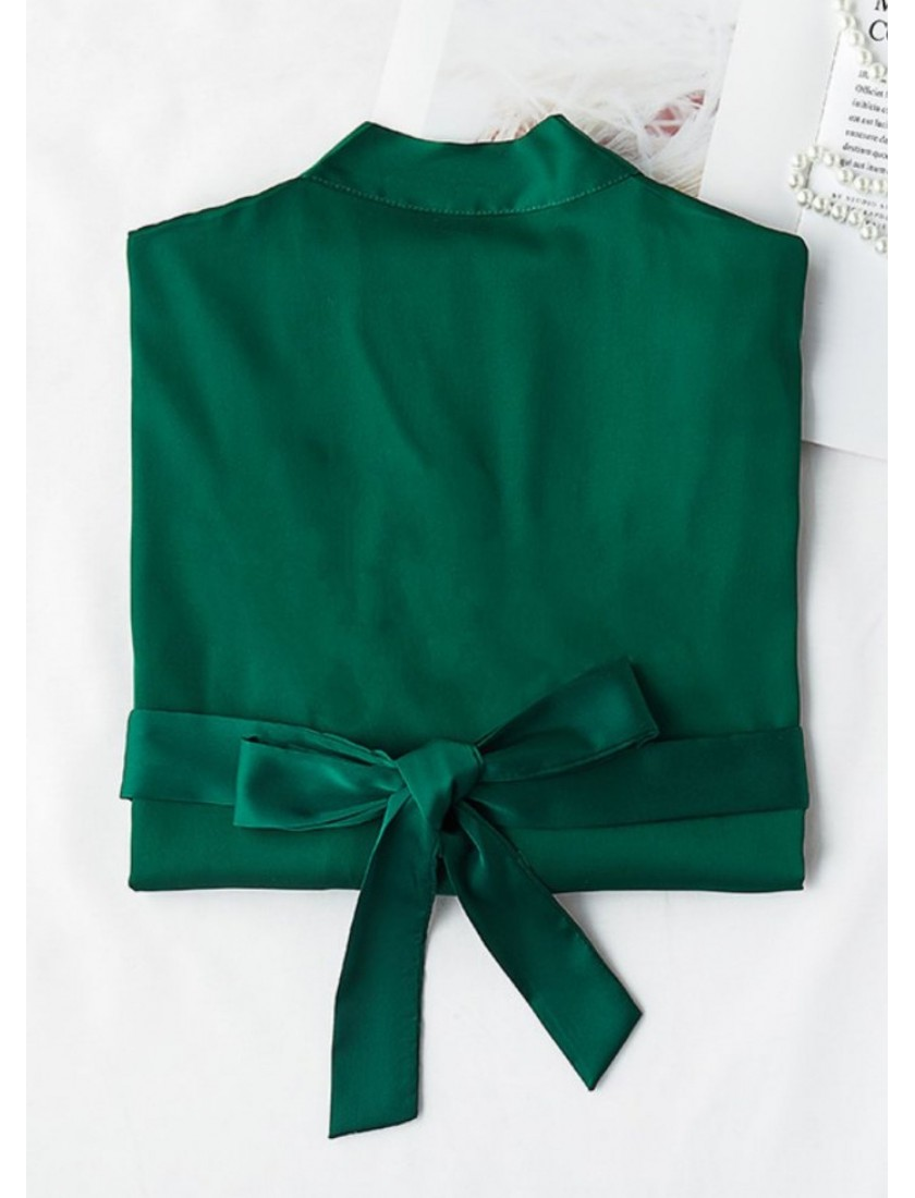 Iris Luxe Silk Robe (Emerald Green)