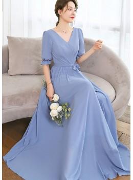 Elania Dress (Dusty Blue)