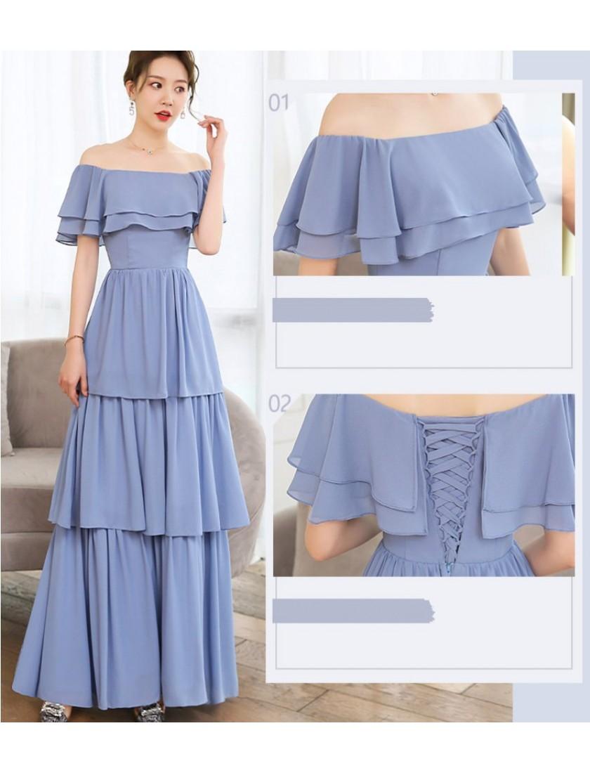 Luna Dress (Dusty Blue)