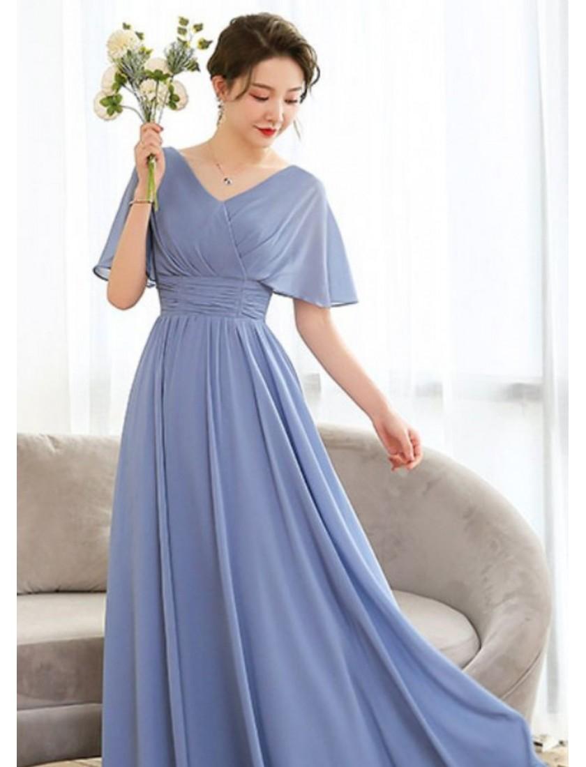 Sierra Dress (Dusty Blue)