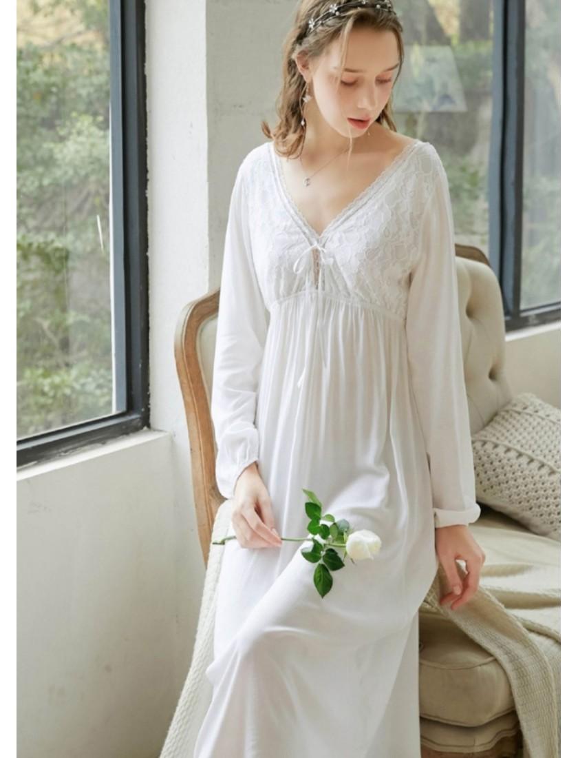 Zella Luxe Lace Cotton Robe