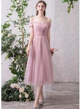 Bella Midi Dress (Dusty Pink)