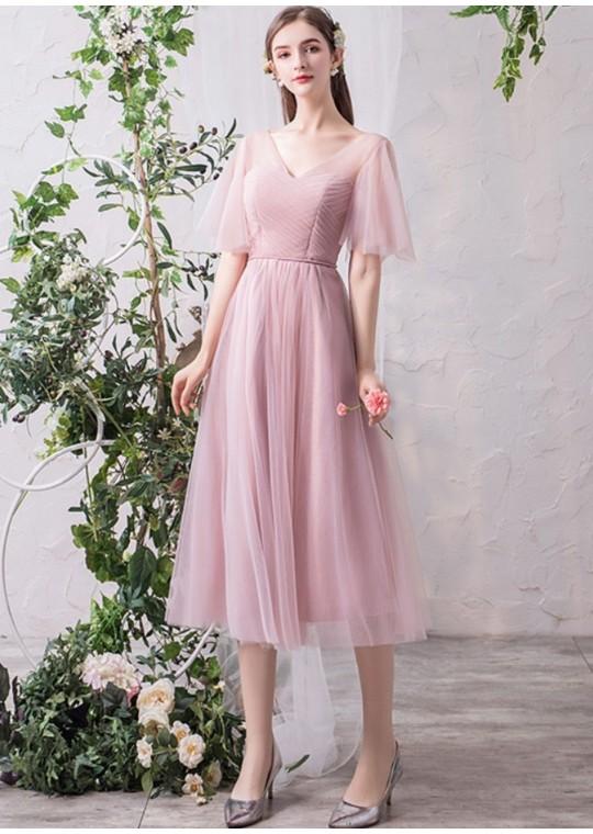 Gianna Midi Dress (Dusty Pink)