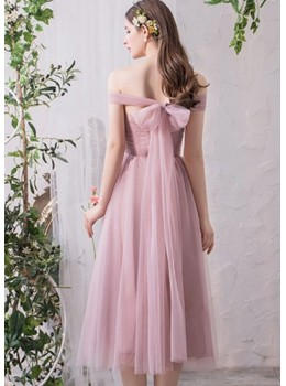 Sienna Midi Dress (Dusty Pink)