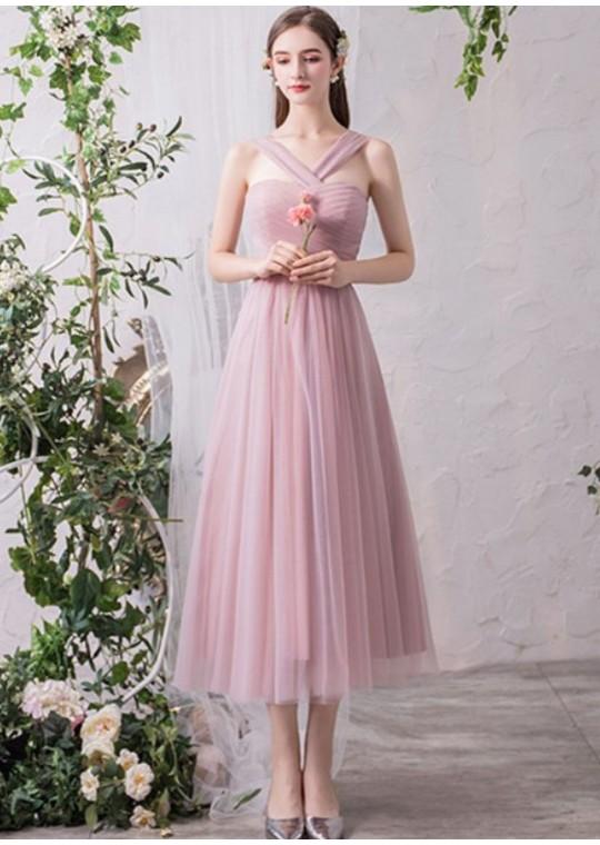 Arianna Midi Dress (Dusty Pink)