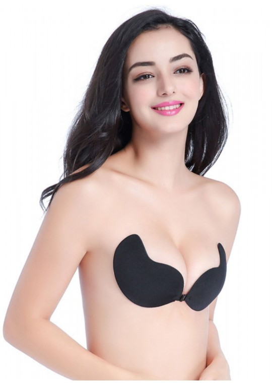 Sofy Invisible Push Up Bra (Black)