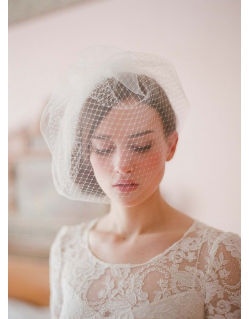 Double Layer Vintage Full Birdcage Veil