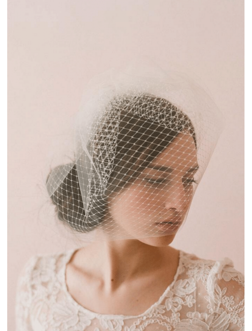 Reese Veil | Double Layer Vintage Full Birdcage Veil