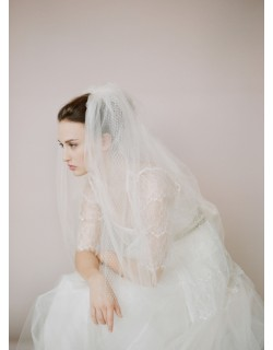 Soft Tulle and Birdcage Elbow Length Bridal Veil