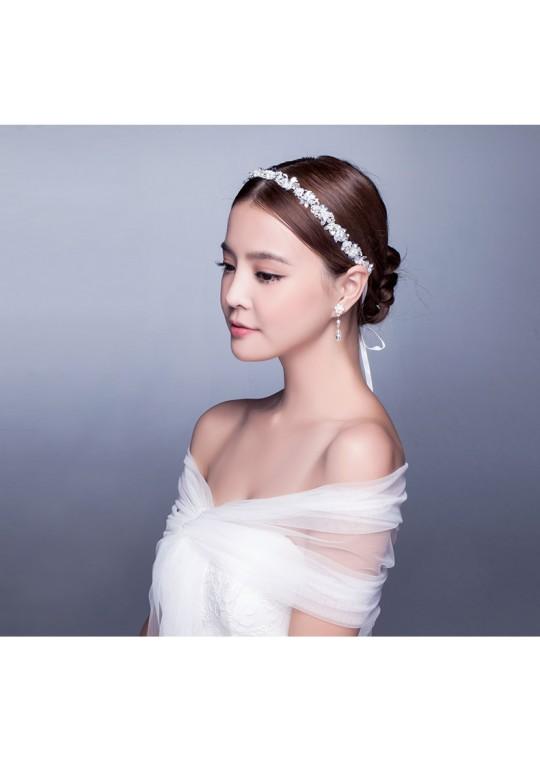 Rhinestones Beaded Wedding Jewelry Bridal Headband