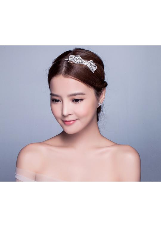 Retro Bow Rhinestones Hairband Wedding Hair Accessories