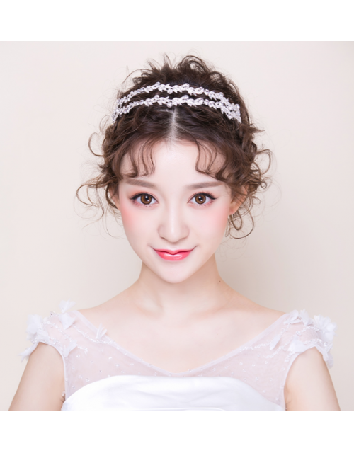 Crystal Leaf Wedding Accessories Bridal Hairband
