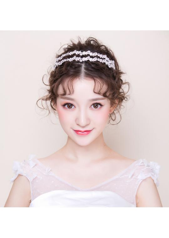 Crystal Leaf Wedding Accessories Bridal Hairband