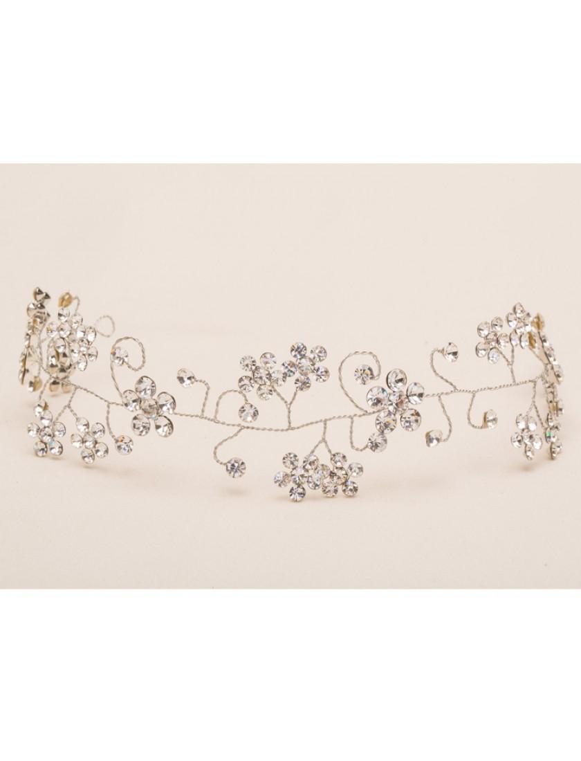 Silver Rhinestones Charm Hair Vine Wedding Accessories