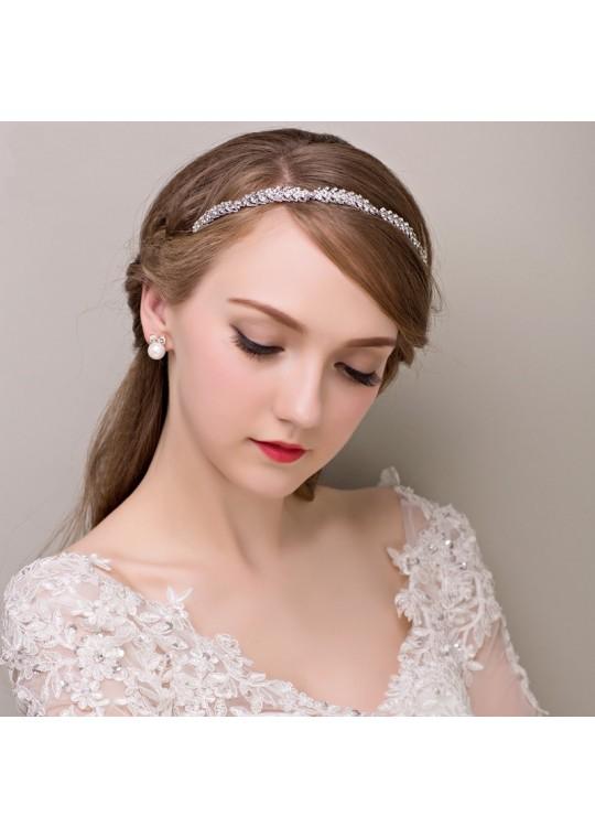 Simple Twisted Rhinstones Wedding Hair Accessories Headband