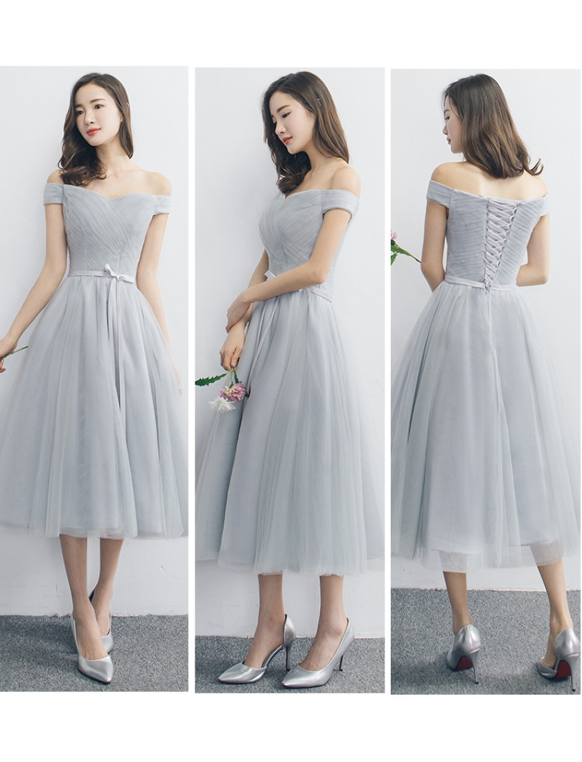Janell Dress (Soft Grey)
