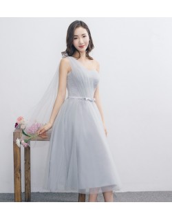 Janey Dress (Soft Grey)