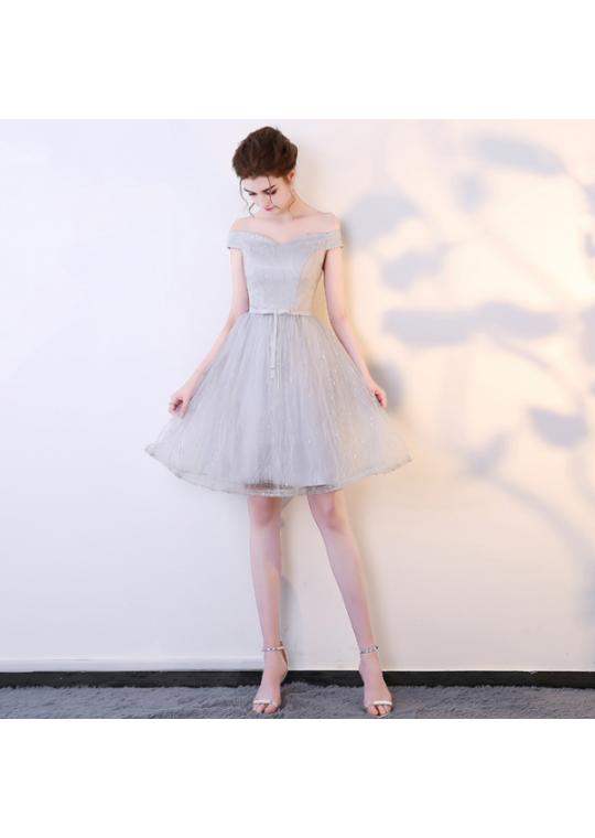 Michele Dress (Soft Grey)