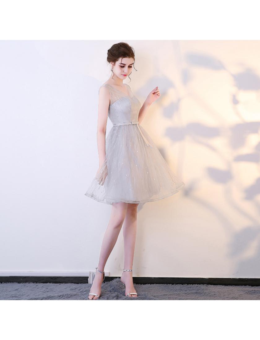 Marissa Dress (Soft Grey)