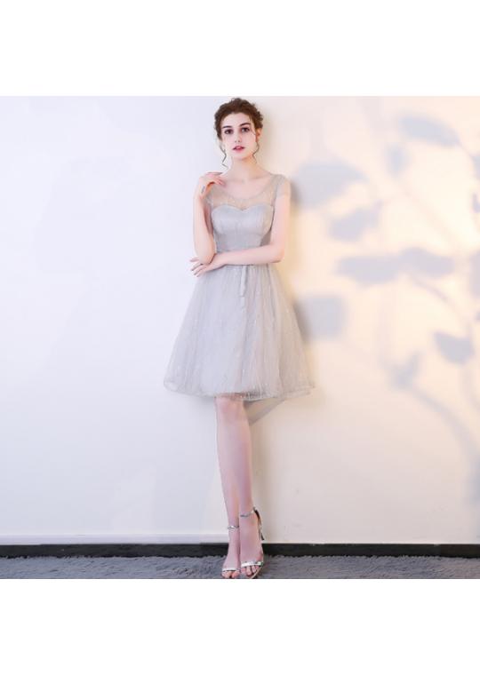 Mirabelle Dress (Soft Grey)