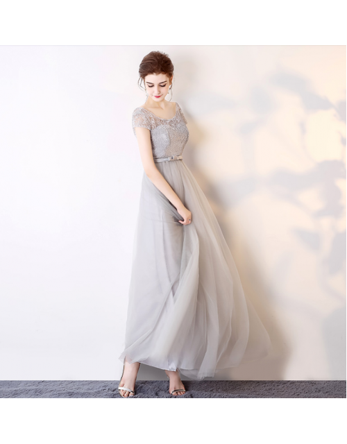 Hillary Dress (Soft Grey)