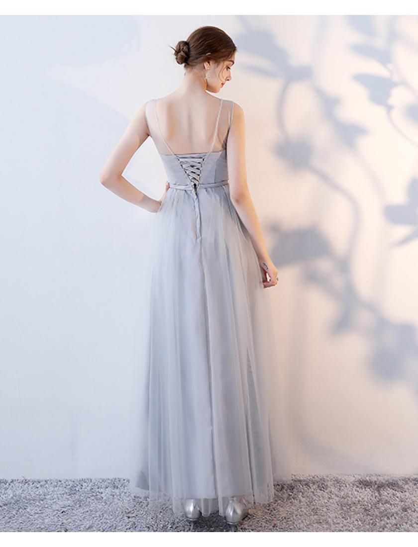 Adelina Dress (Soft Grey)