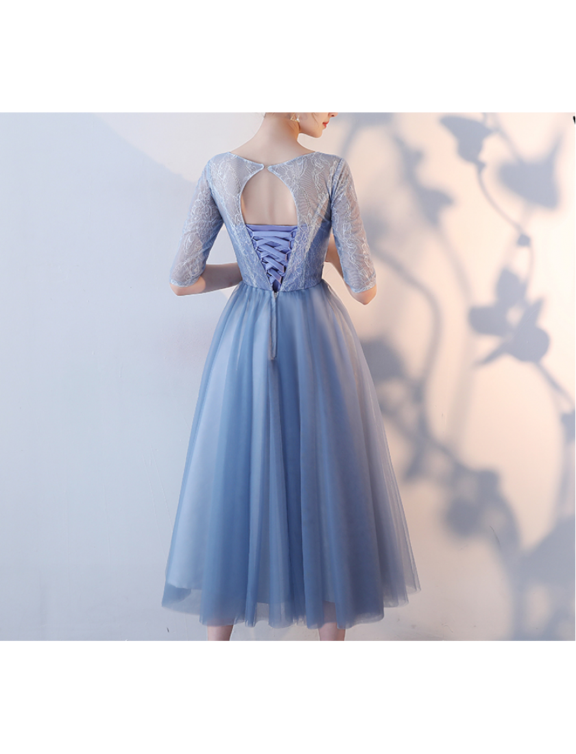 Mavis Dress (Dusty Blue)