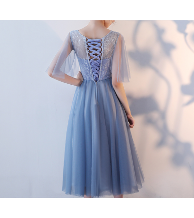 Miranda Dress (Dusty Blue)