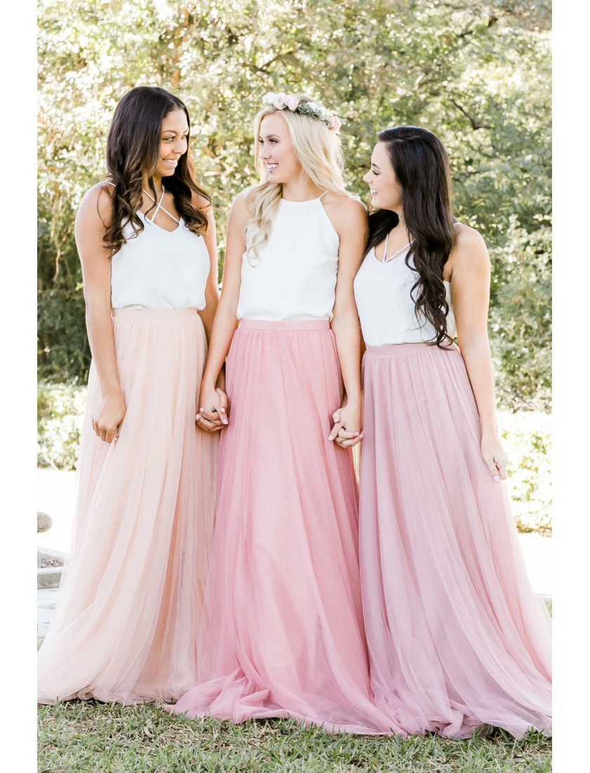 Charlotte Tulle Maxi Skirt (Custom Color)