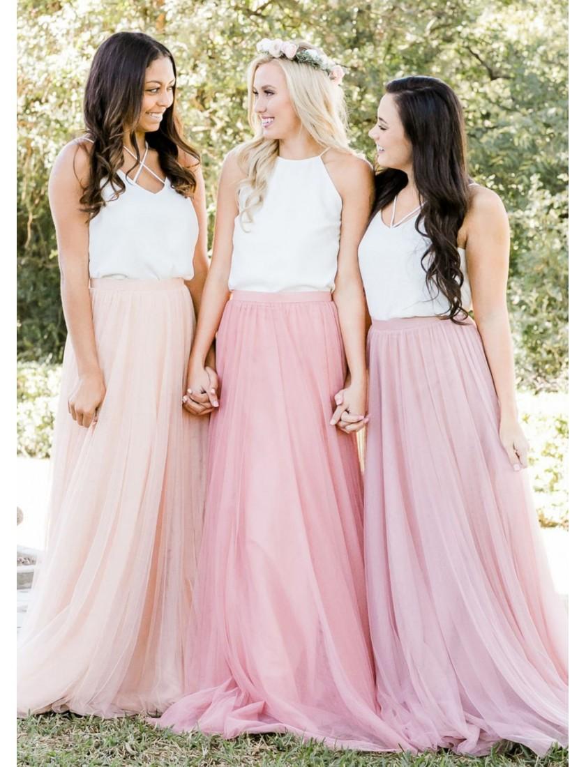 Charlotte Tulle Maxi Skirt (Custom Color)