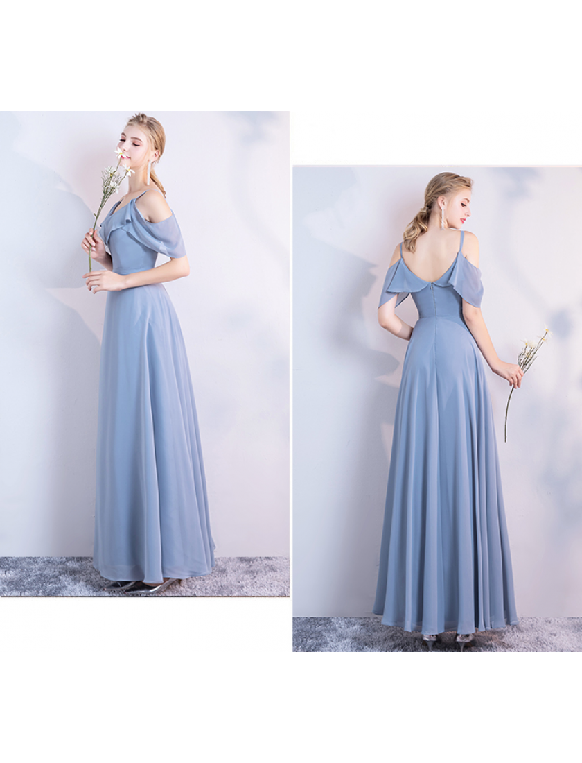 Kaitlynn Dress (Dusty Blue)