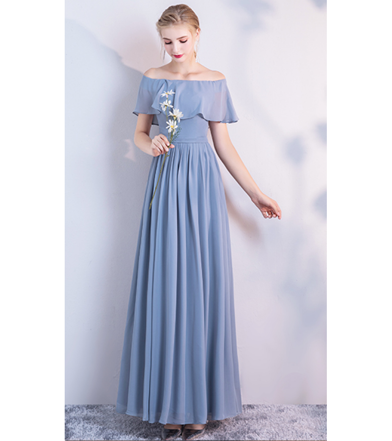Audrey Dress (Dusty Blue)