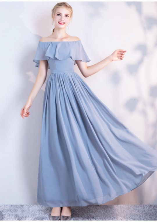 Audrey Dress (Dusty Blue)