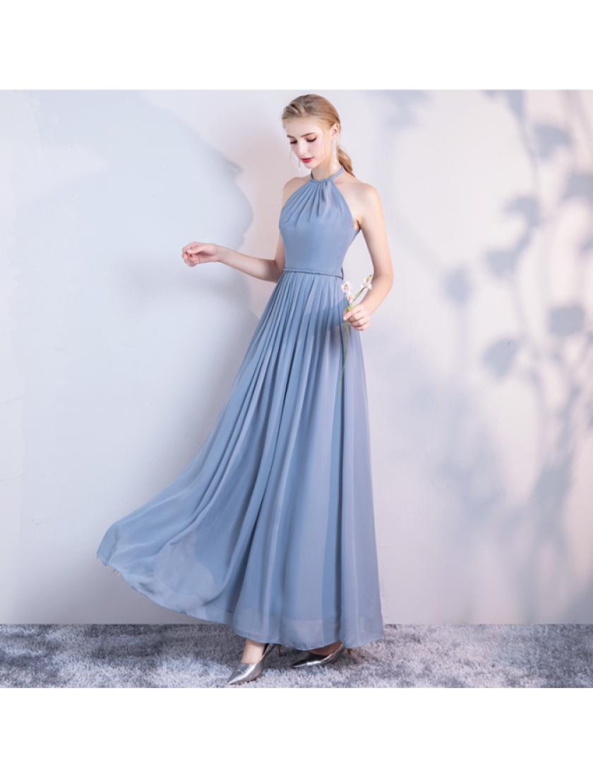 Carissa Dress (Dusty Blue)