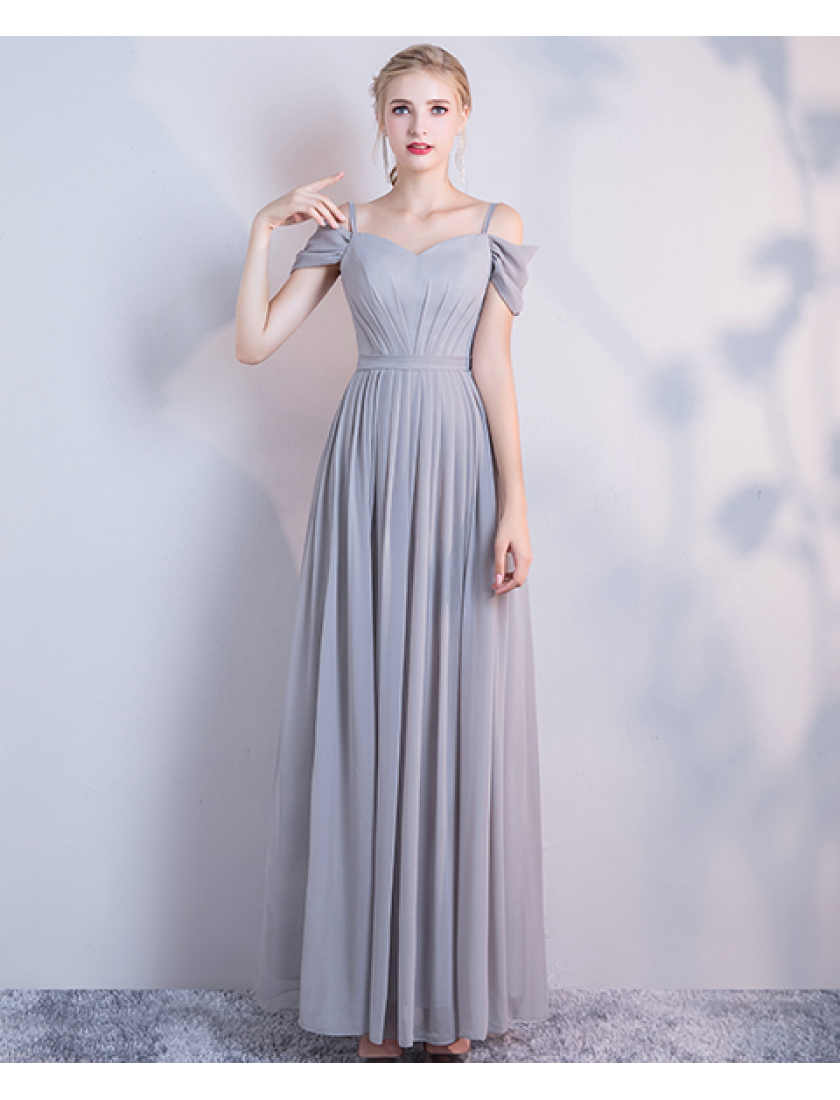 Leah Dress (Soft Grey)