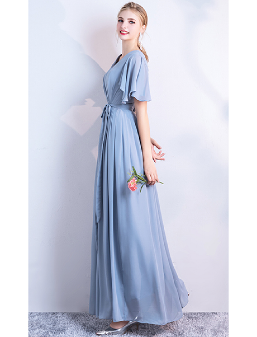 Molly Dress (Dusty Blue)