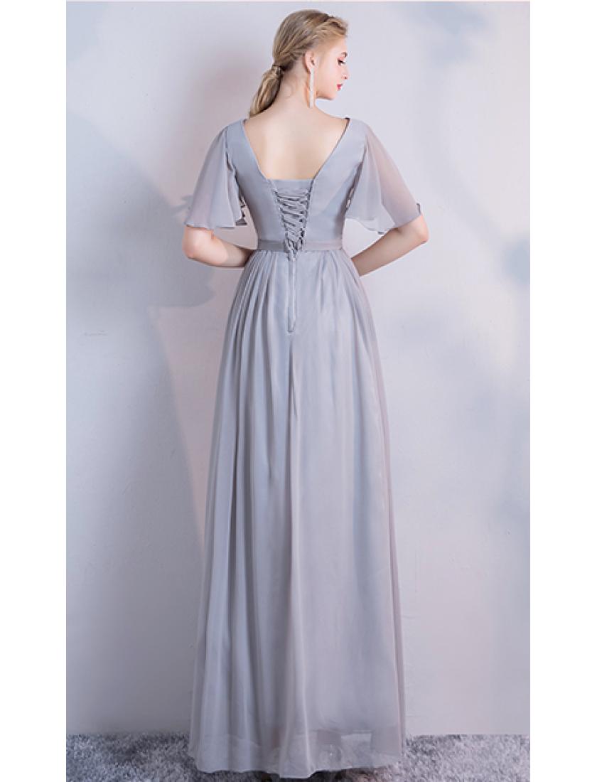 Molly Dress (Soft Grey)