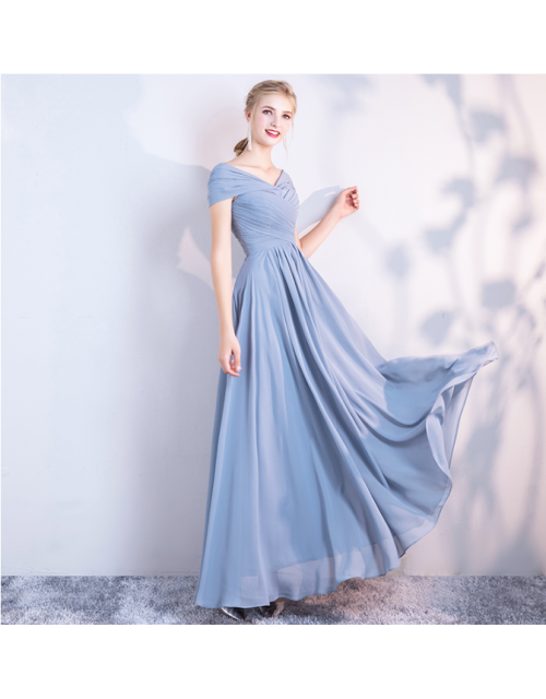 Misha Dress (Dusty Blue)
