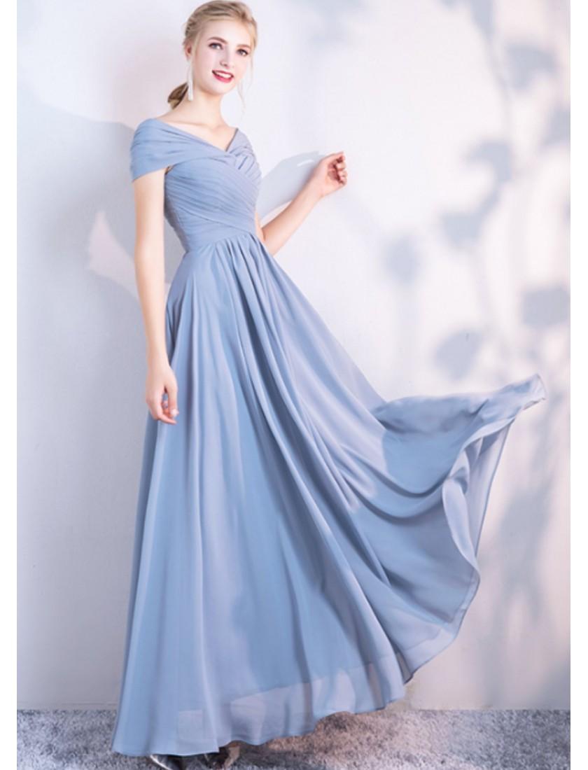 Misha Dress (Dusty Blue)