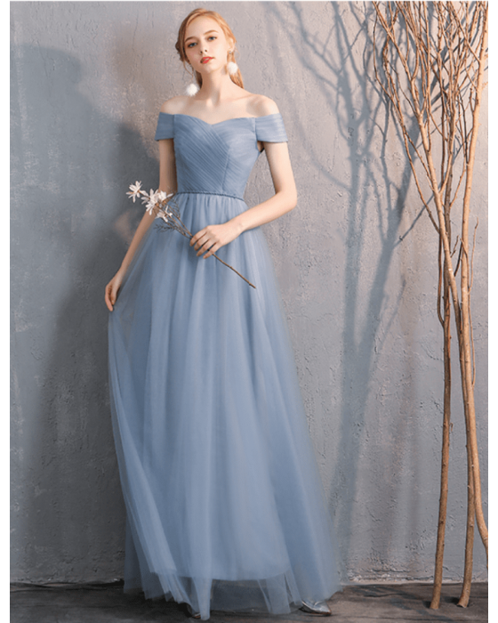 Bella Dress (Dusty Blue)