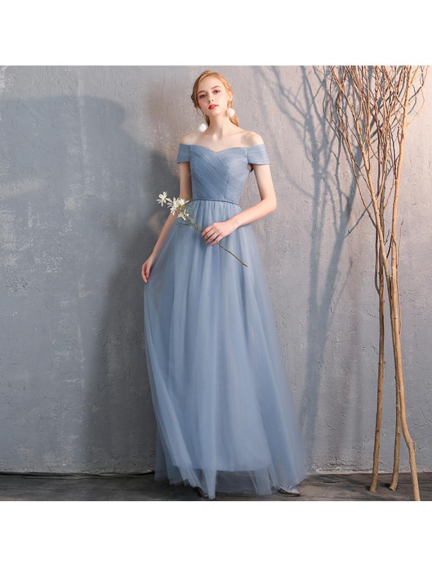Bella Dress (Dusty Blue)