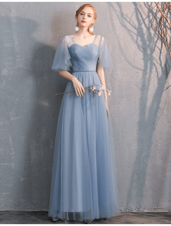 Gianna Dress (Dusty Blue)