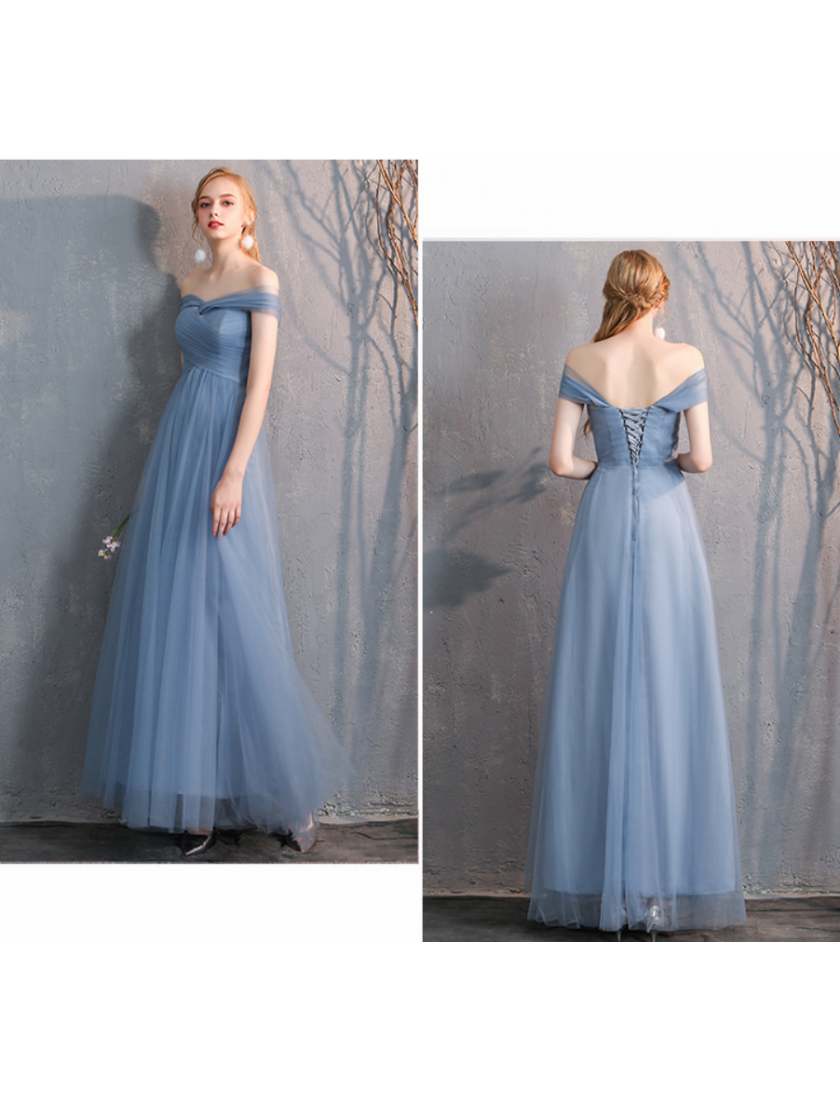 Arianna Dress (Dusty Blue)