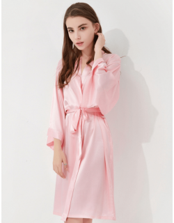 Iris Luxe Silk Robes (Blush Pink)