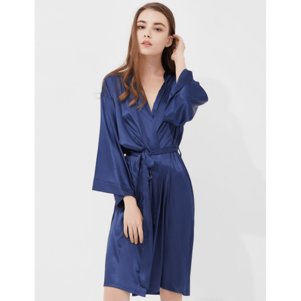 wholesale dealer exclusive shoes durable service Iris Luxe Silk Robes (Midnight Blue)