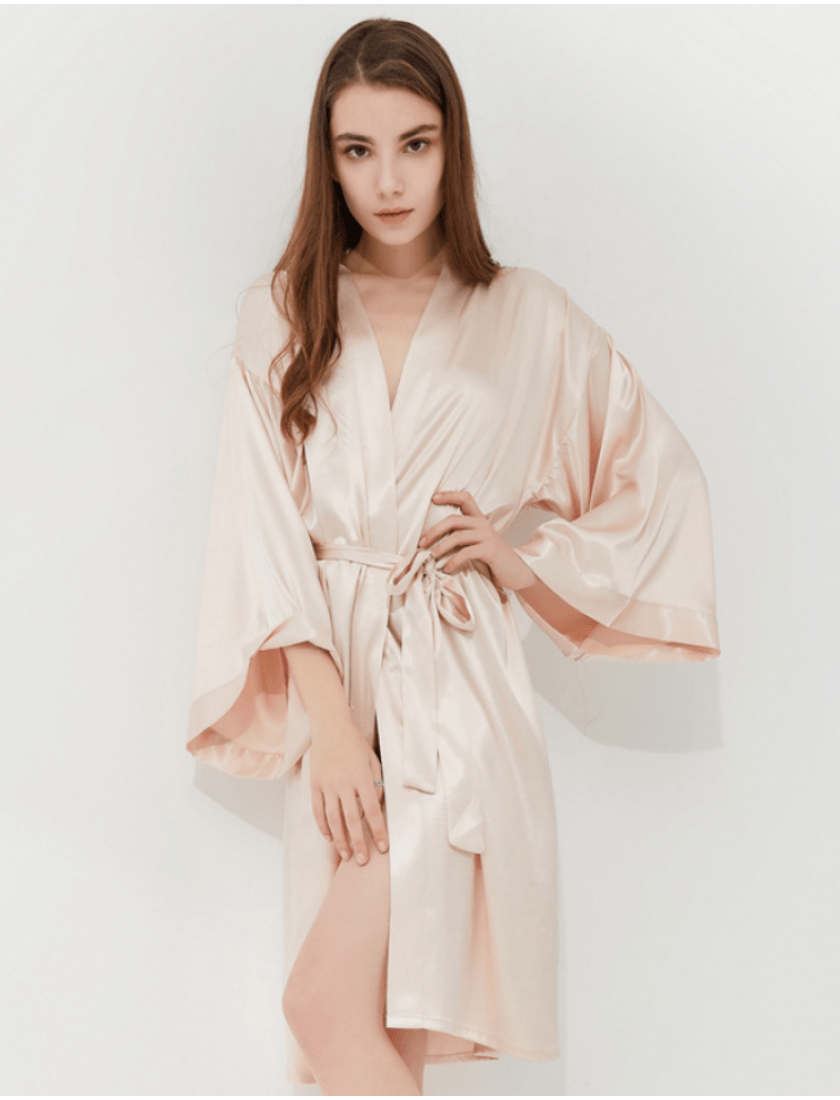 Iris Luxe Silk Robe (Personalized Embroidery)